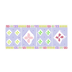 Pastel Plaid Wallpaper Border