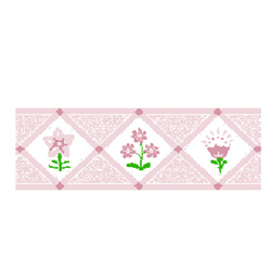 Pink Bouquet Wallpaper Border