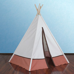 Hideaway Orange Polka Dot Teepee