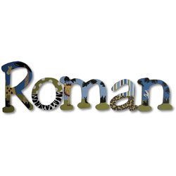 Roman's Jungle Wall Letters