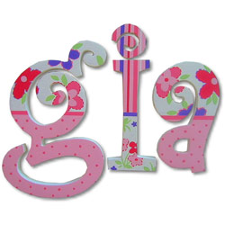 Gia Curlz Wall Letters