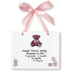 Teddy Bear Girl Birth Certificate