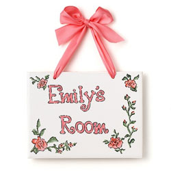 Big Roses Name Plaque