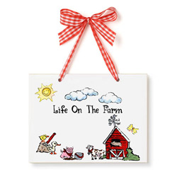 Farm Just Because Plaque