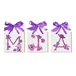 Lil' Tea Party Name Tiles