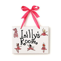 Ballerina Name Plaque