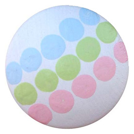 Tri-colored Dots Knob (Pack of 6)