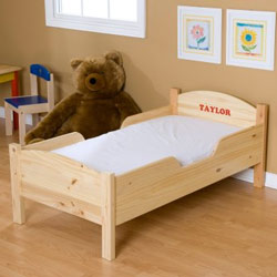 Personalized Traditional Toddler Bed