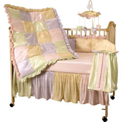 Exquisite Rainbow Crib Bedding
