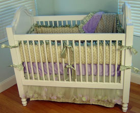 Lilac Trellis Crib Bedding Set