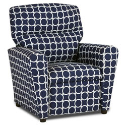 Linked Navy Tween Recliner