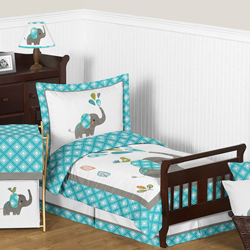 Mod Elephant Toddler Bedding Collection