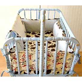 Retro Cowboy Cradle Bedding