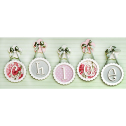 Scalloped Framed Wooden Letters