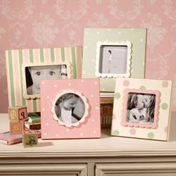 Pink and Green Wood Cottage Frames