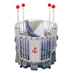 Nautical Round Baby Crib