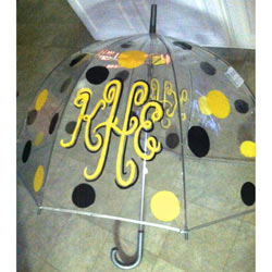 Monogrammed Polka Dot Umbrella