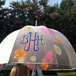 Personalized Floral Umbrella
