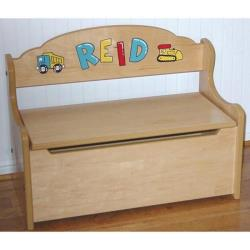 Personalized Shark Tank White Toy Box Bench Sharks toy Boxes Wood Boys Bench Furniture nursery decor cute storage fun BENC-whi-237