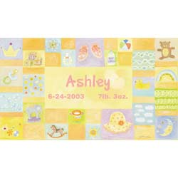 Personalized Baby Girl Canvas