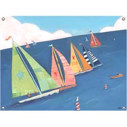 Sailing Regatta Stretched Art
