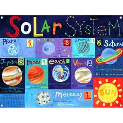 Counting Planets Canvas Art