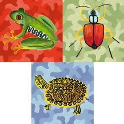 Camo Critters Stretched Art