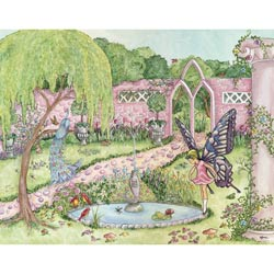 Enchanted Garden Stretched Art
