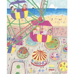 Seaside Carnival Stretched Art