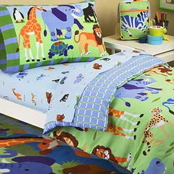 Wild Animals Toddler Bedding