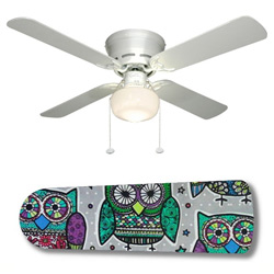 Owl Kaleidescope Ceiling Fan