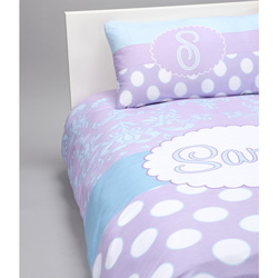 Damask n Dot Personalized Toddler Bedding Set