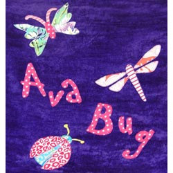 Personalized Bug Bath Towel
