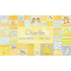 Personalized Baby Boy Canvas