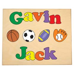 Personalized 2 Name Sports Puzzle