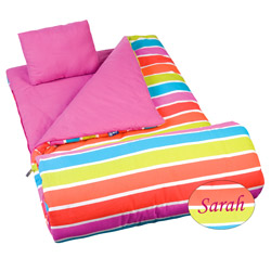 Personalized Bright Stripes Sleeping Bag