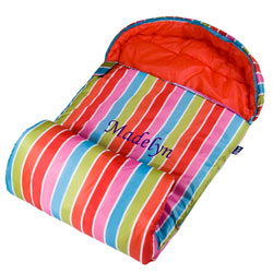 Personalized Bright Stripes Stay Warm Sleeping Bag