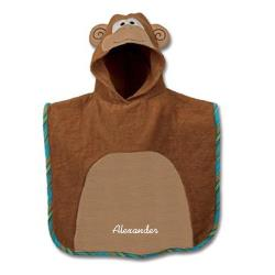 Personalized Hooded Monkey Bath Towel