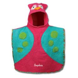 Personalized Hooded Owl Bath Towl