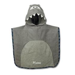 Personalized Hooded Shark Bath Towel