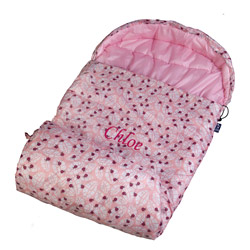 Personalized Lady Bug Pink Stay Warm Sleeping Bag