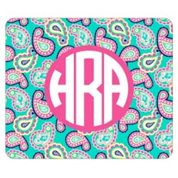 Personalized Paisley Mouse Pad