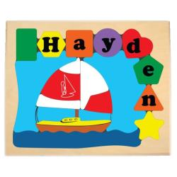 Personalized Sailboat Puzzle