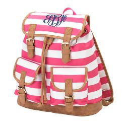 Personalized Stripe Campus Backpack