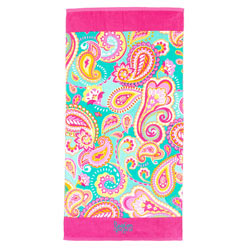 Personalized Summer Paisley Beach Towel
