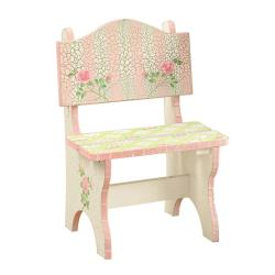 Pink Crackle Finish Bench