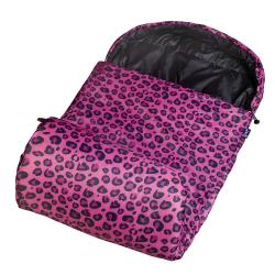 Pink Leopard Stay Warm Sleeping Bag