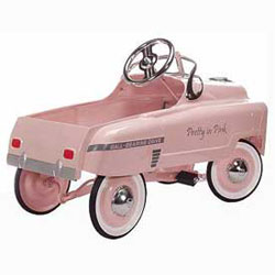 Pretty In Pink Kids Pedal Car