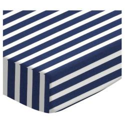 Primary Stripes Woven Cotton Crib Sheet