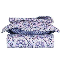 Purple Tiles 3 Piece Quilt Set